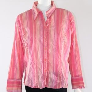 *SOLD* Cato Woman Button Down Blouse - Pink 18/20W